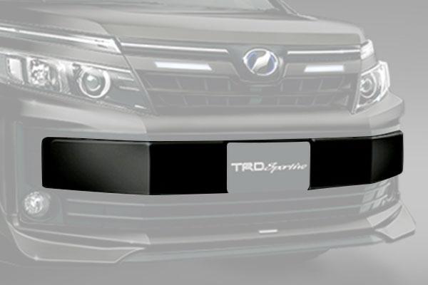 TRD フロントバンパーガーニッシュ ブラック(202) ヴォクシー ZRR80G ZRR85G ZWR80G 14/01~17/06