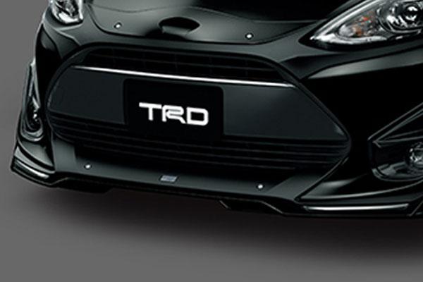 TRD フロントバンパーガーニッシュ ブラックマイカ(209) アクア NHP10 17/06~ 除くエンブレムイルミネーション、フェンダーランプ(純正用品)付車