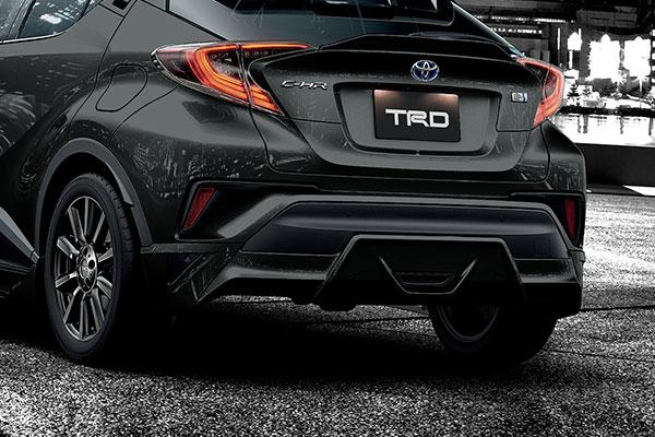 TRD リヤバンパースポイラー ブラックマイカ(209) C-HR NGX50 ZYX10 16/12~19/10 除くマッドフラップ(511)付車