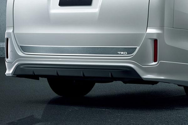 TRD リヤバンパースポイラー 素地(未塗装) ヴォクシー ZRR80G ZRR85G ZWR80G 17/07~ 除くリヤフォグランプ(純正用品)付車