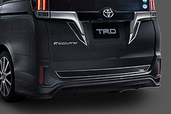 TRD リヤバンパースポイラー ブラック(202) エスクァイア ZRR80G ZRR85G ZWR80G 17/07~ 除くリヤフォグランプ(純正用品)付車