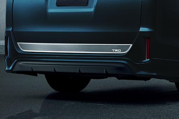 TRD リヤバンパースポイラー ブラキッシュアゲハガラスフレーク(221) ヴォクシー ZRR80G ZRR85G ZWR80G 17/07~ 除くリヤフォグランプ(純正用品)付車
