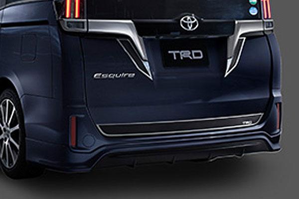 TRD リヤバンパースポイラー スパークリングブラックパールクリスタルシャイン(220) エスクァイア ZRR80G ZRR85G ZWR80G 17/07~ 除くリヤフォグランプ(純正用品)付車