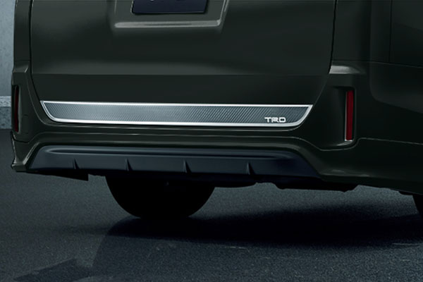 TRD リヤバンパースポイラー イナズマスパーキングブラックガラスフレーク(224) ヴォクシー ZRR80G ZRR85G ZWR80G 17/07~ 除くリヤフォグランプ(純正用品)付車