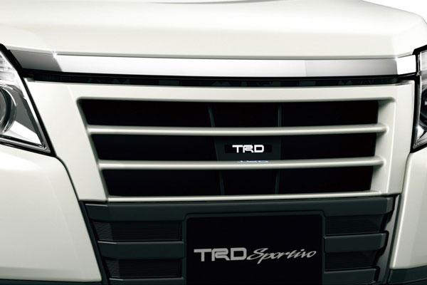 TRD フロントグリル(ロゴイルミネーション付) ブラック(202) ノア ZRR80G ZRR85G ZWR80G 14/01~17/06