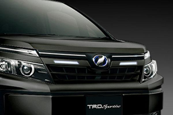 TRD フロントグリル イルミネーション付 ブラック(202) ヴォクシー ZRR80G ZRR85G ZWR80G 14/01~17/06