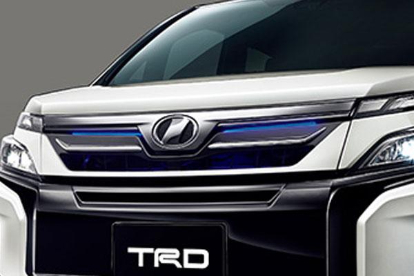TRD フロントグリル(LED付) ホワイトパールクリスタルシャイン(070) ヴォクシー ZRR80G ZRR85G ZWR80G 17/07~ 除くプレミアムホーン(純正用品)付車