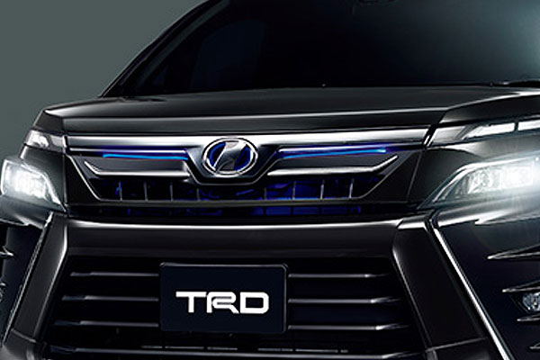 TRD フロントグリル(LED付) ブラック(202) ヴォクシー ZRR80W ZRR85W ZWR80W 17/07~ 除くプレミアムホーン(純正用品)付車