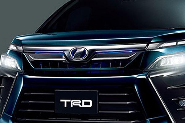 TRD フロントグリル(LED付) ブラキッシュアゲハガラスフレーク(221) ヴォクシー ZRR80W ZRR85W ZWR80W 17/07~ 除くプレミアムホーン(純正用品)付車