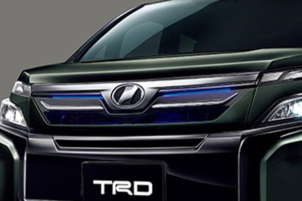 TRD フロントグリル(LED付) イナズマスパーキングブラックガラスフレーク(224) ヴォクシー ZRR80G ZRR85G ZWR80G 17/07~ 除くプレミアムホーン(純正用品)付車