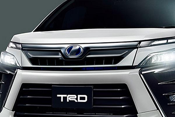 TRD フロントグリル(LEDなし) ホワイトパールクリスタルシャイン(070) ヴォクシー ZRR80W ZRR85W ZWR80W 17/07~ 除くプレミアムホーン(純正用品)付車