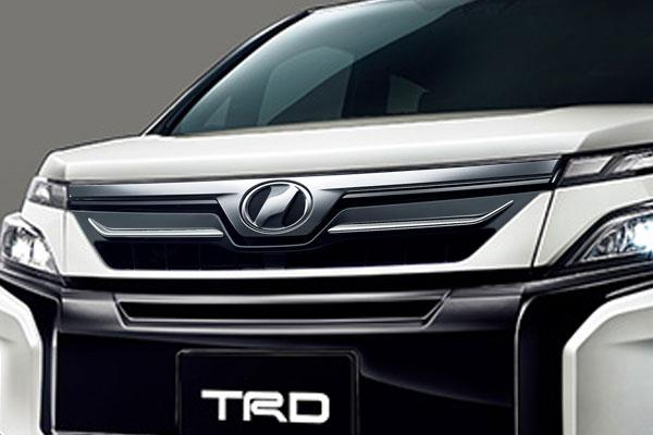 TRD フロントグリル(LEDなし) ホワイトパールクリスタルシャイン(070) ヴォクシー ZRR80G ZRR85G ZWR80G 17/07~ 除くプレミアムホーン(純正用品)付車