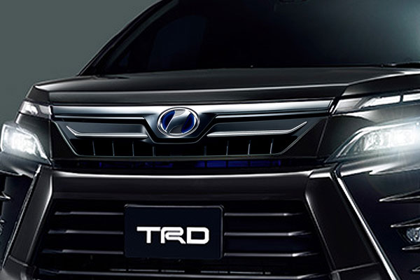 TRD フロントグリル(LEDなし) ブラック(202) ヴォクシー ZRR80W ZRR85W ZWR80W 17/07~ 除くプレミアムホーン(純正用品)付車