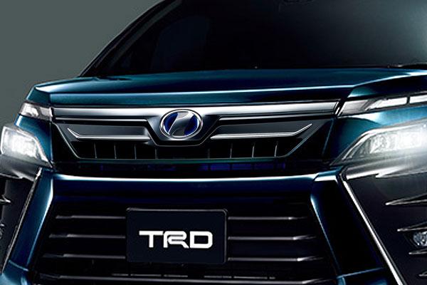 TRD フロントグリル(LEDなし) ブラキッシュアゲハガラスフレーク(221) ヴォクシー ZRR80W ZRR85W ZWR80W 17/07~ 除くプレミアムホーン(純正用品)付車