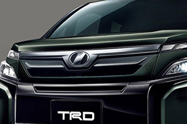 TRD フロントグリル(LEDなし) イナズマスパーキングブラックガラスフレーク(224) ヴォクシー ZRR80G ZRR85G ZWR80G 17/07~ 除くプレミアムホーン(純正用品)付車