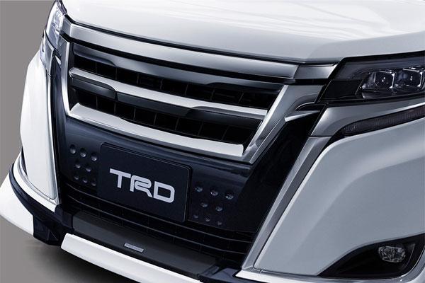 TRD フロントグリル エスクァイア ZRR80G ZRR85G ZWR80G 17/07~ 除くフロントグリル&フロントスポイラー(LED付)、プレミアムホーン(純正用品)付車
