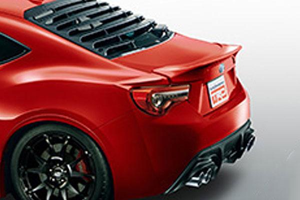 TRD リヤトランクスポイラー ピュアレッド(M7Y) ハチロク ZN6 16/07~ 除くHigh Performance Package(メーカーオプション)付車