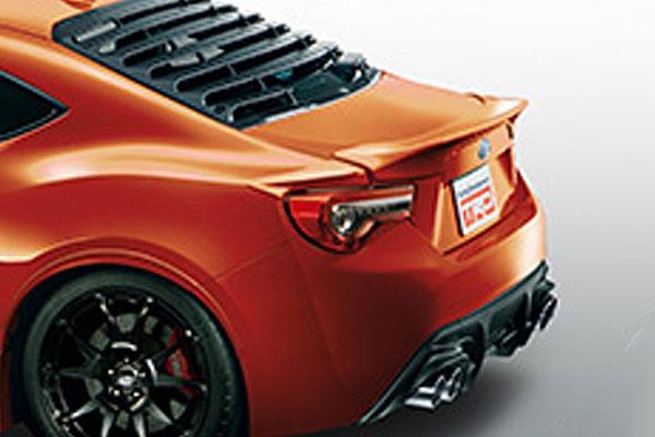 TRD リヤトランクスポイラー オレンジメタリック(H8R) ハチロク ZN6 16/07~ 除くHigh Performance Package(メーカーオプション)付車