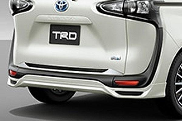 TRD リヤアンダースポイラー ホワイトパールクリスタルシャイン(070) シエンタ NHP170G NSP170G NCP175G 18/9~ 除くリヤフォグランプ(純正用品)付車