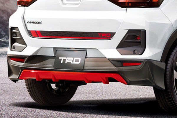 TRD リヤバンパースポイラー ライズ A200A A210A 19/11~ フロントスキッドプレート、パノラミックビューの有無によりグレード毎に適合が異なります。詳細はメーカー適合表を必ずご確認下さい。
