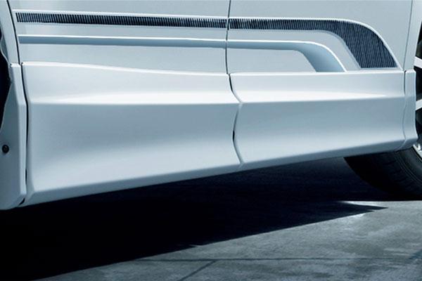 TRD サイドスカート 素地(未塗装) ノア ZRR80G ZRR85G ZWR80G 17/07~ 除くドアエッジプロテクター(純正用品)付車