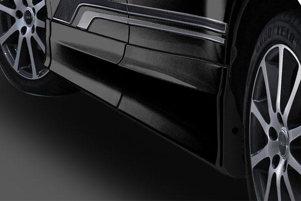TRD サイドスカート ブラック(202) エスクァイア ZRR80G ZRR85G ZWR80G 17/07~ 除くドアエッジプロテクター(純正用品)付車
