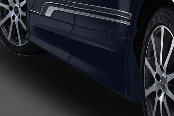 TRD サイドスカート スパークリングブラックパールクリスタルシャイン(220) エスクァイア ZRR80G ZRR85G ZWR80G 17/07~ 除くドアエッジプロテクター(純正用品)付車