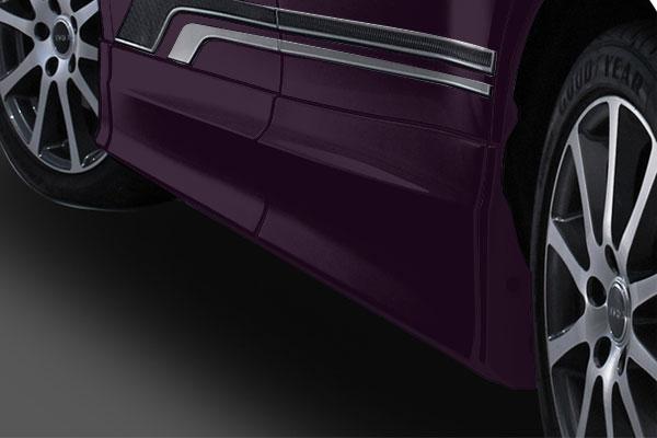 TRD サイドスカート ボルドーマイカメタリック(3R9) エスクァイア ZRR80G ZRR85G ZWR80G 17/07~ 除くドアエッジプロテクター(純正用品)付車