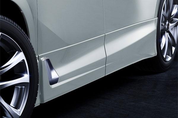 TRD サイドスカート 未塗装 ヴェルファイア AGH30W AGH35W GGH30W GGH35W AYH30W 18/1~ 除くサイドガーニッシュ(メッキ)、ドアエッジプロテクター(メッキ調・樹脂製)付車