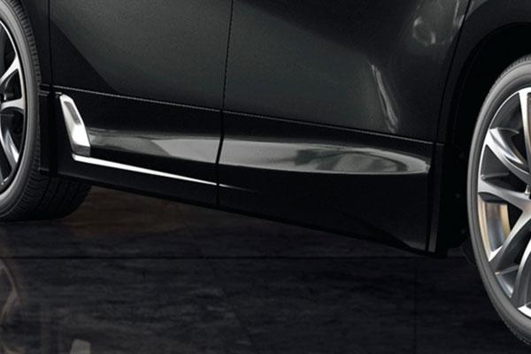 TRD サイドスカート ブラック(202) アルファード GGH30W GGH35W AYH30W 18/1~ 除くサイドガーニッシュ(メッキ)、ドアエッジプロテクター(メッキ調・樹脂製)付車