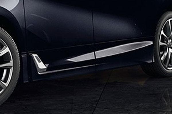 TRD サイドスカート スパークリングブラックパールクリスタルシャイン(220) アルファード GGH30W GGH35W AYH30W 18/1~ 除くサイドガーニッシュ(メッキ)、ドアエッジプロテクター(メッキ調・樹脂製)付車