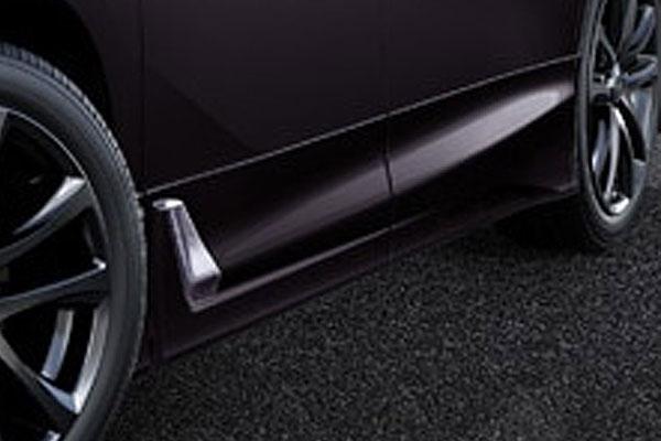 TRD サイドスカート バーニングブラッククリスタルシャインガラスフレーク(222) ヴェルファイア AGH30W AGH35W GGH30W GGH35W AYH30W 18/1~