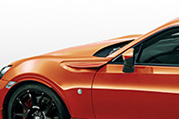 TRD カラードフェンダーフィン オレンジメタリック(H8R) ハチロク ZN6 16/07~ 除くTRDフロントフェンダーエアロフィン(508)付車