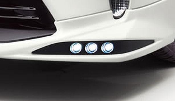 TRD LEDデイタイムランプセット TRDフロントスポイラー装着車用 プリウス ZVW30 11/12~15/12 マイナーチェンジ後のTRDフロントスポイラー装着車専用