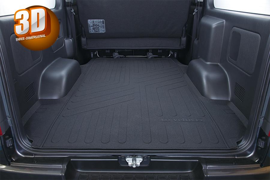 Uivehicle 3Dラバーカーゴマット ハイエース 200系 標準ボディ S-GL 1型~4型最終型(6型) 送料:北海道3800円税別、離島/沖縄は要確認