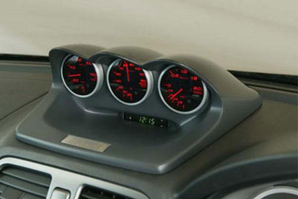[ZERO/SPORTS] ゼロスポーツ トリプルメーターフード グレー塗装モデル インプレッサ GG# H12.9~ アプライドA~G φ60追加メーター専用