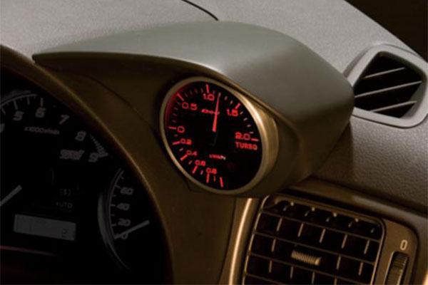 [ZERO/SPORTS] ゼロスポーツ シングルメーターフード マットグレー塗装モデル インプレッサ GRF H21.2~22.6 アプライドB WRX STI A-line φ60追加メーター専用