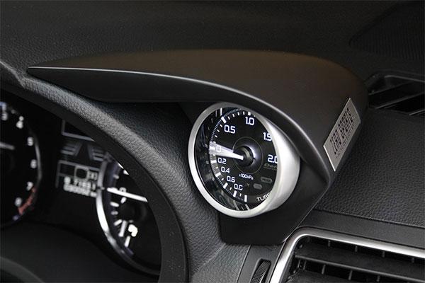 [ZERO/SPORTS] ゼロスポーツ シングルメーターフード マットグレー塗装モデル WRX S4 VAG H26.2~ アプライドA~ φ60追加メーター専用