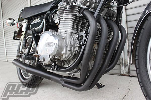 KZ900 エルサウンド ショート管 (ブラック)