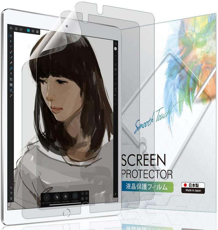 iPad Pro 即納最大半額 12.9 第2世代 2017 第1世代 2015 ペーパーライク フィルム ペン先摩耗低減 日本製 指紋防止 2SIPD15129PLK BELLEMOND おしゃれ 液晶保護フィルム 市場の日10%OFFクーポン B0221 2枚セット 気泡防止 ケント紙 ベルモンド 反射防止