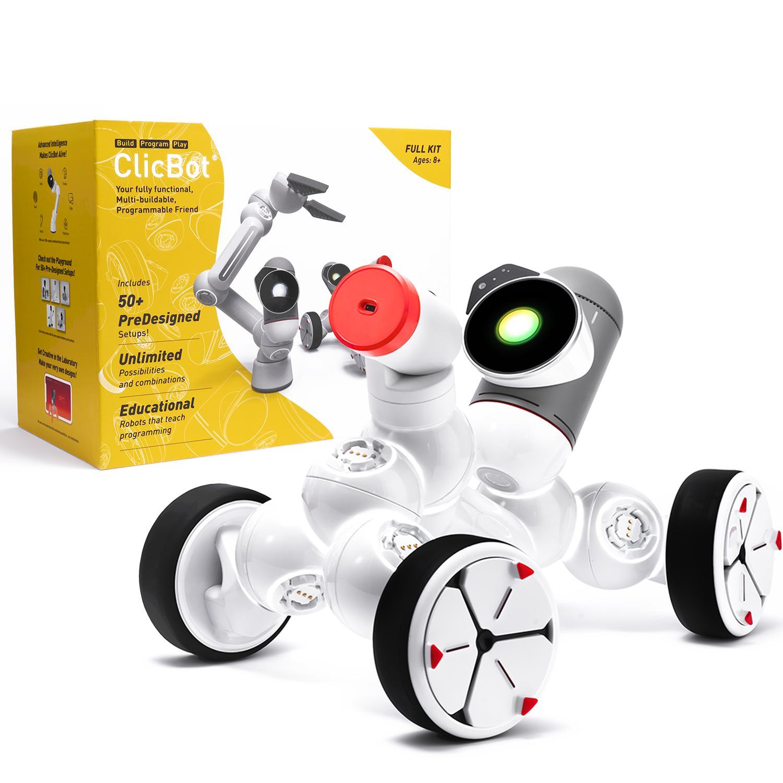 clicbot プログラミングロボット 教育ロボット 公式 ClicBot クリックボット - 作って遊んで学ぶ プログラミングを学べるロボット フルキット オンラインショップ Google ゆうパック FULL PYTHON対応 ブロックリーと KIT 1000通り以上の組み合わせ可能 初心者から上級者まで 大決算セール