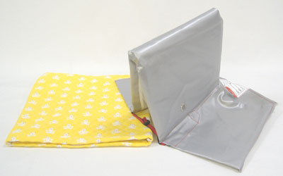 Disaster prevention hood cover set yellow white sow I (NEW) ( are light blue and pink on the other )