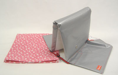 "Disaster prevention hood cover set ' pink Ma-Galette ""(NEW) ( are light blue and yellow on the other )"