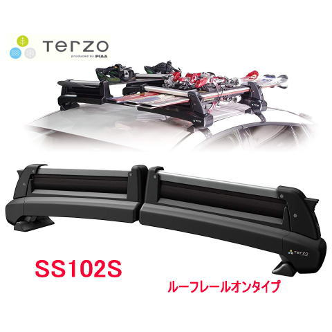 【送料無料】TERZO 品番:SS102S スキースノーボード専用キャリア TULIPA-G4 ルーフオンタイプ /自動車/キャリア/スキー/スノーボード