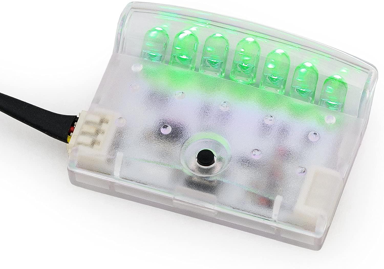 早割クーポン キラメック製 LEDスキャナー 流れる光で防犯 威嚇効果 VISION ビジョン 品番:LM800G ルミネーター グリーン LUMINATOR 今だけ限定15%OFFクーポン発行中 スキャニングLED 輝度LED7個 点滅は16パターン