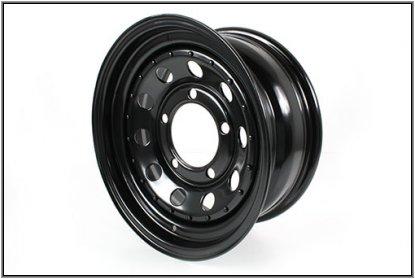 スチールホイール 黒鉄 Black modular 7x16 steel road wheel モデュラー ブラック 1本