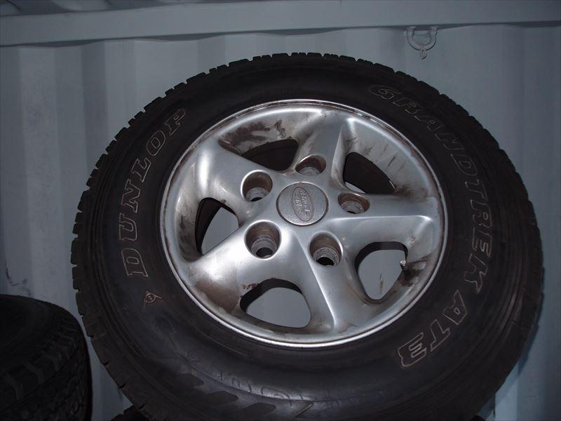 アルミホイール4本セット シルバー ストーム夏タイヤ付(225/75R16)ディフェンダーDEF/クラシックレンジローバーCRR