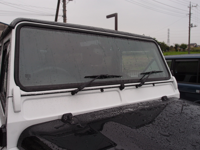 ディフェンダー新車OP ガラス全面12面 高耐久性撥水コーティング