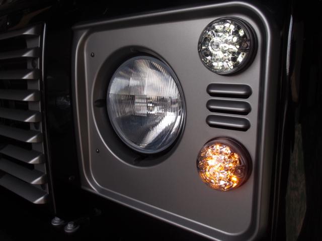 LEDランプ8点+リレーセット【UK社外 WIPAC製】 クリアレンズ レンズ直径75mm[適合車種]ディフェンダー90/110/130 DEFENDER 2007~