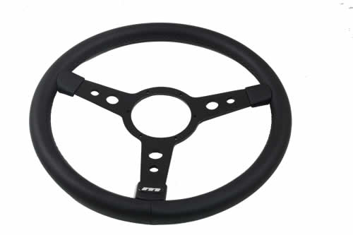 ステアリングホイール 15IN  【ASTRALI/MOUNTNY】Mountney black vinyl covered 15in 3-spoke replacement steering wheel.          DEFENDER ディフェンダー Steering Wheel